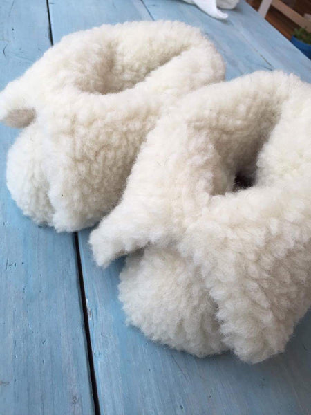 Cream Medium Sized Slipper Boot