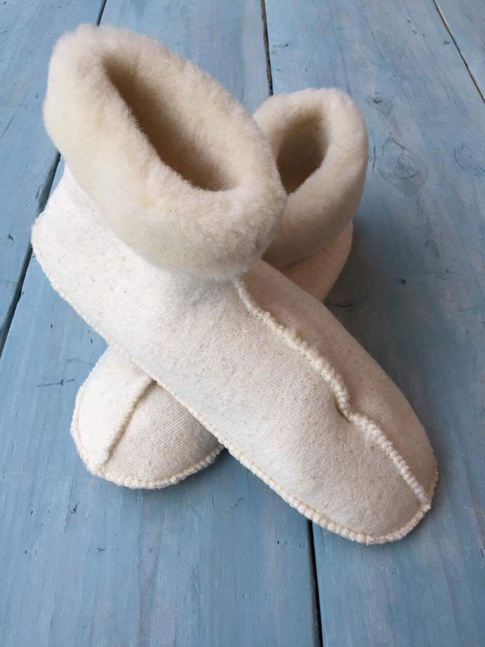 Cream Snug Slipper Boot