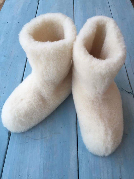 Cream Super Cozy Slipper Boot
