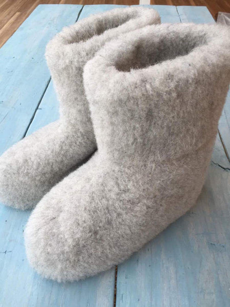 Light Grey Super Cozy Slipper Boot