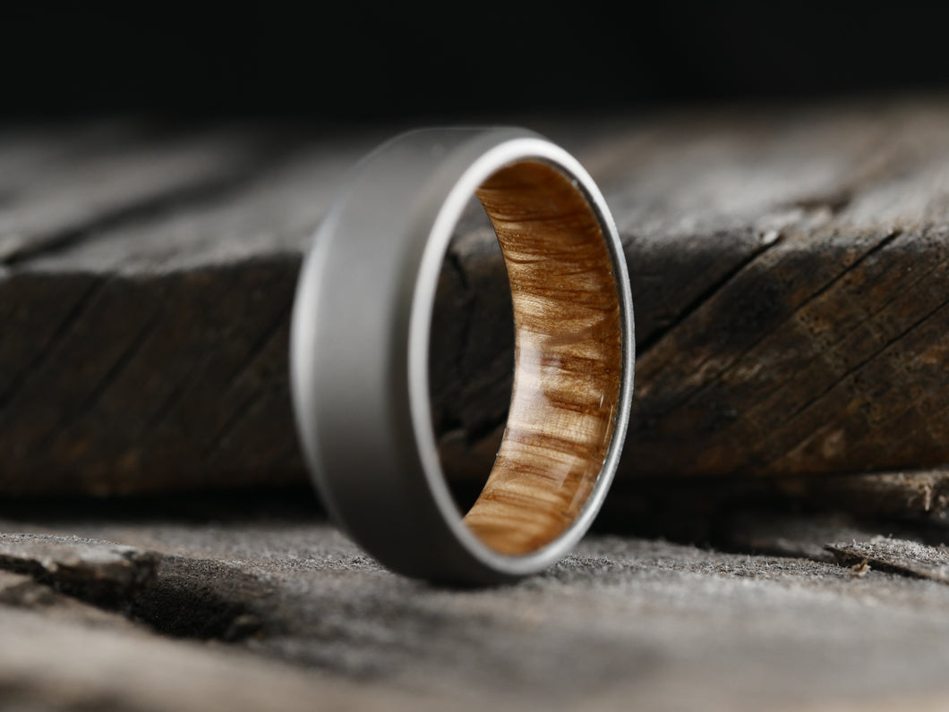 Stonewashed Duality (whiskey barrel wood w/bevel)