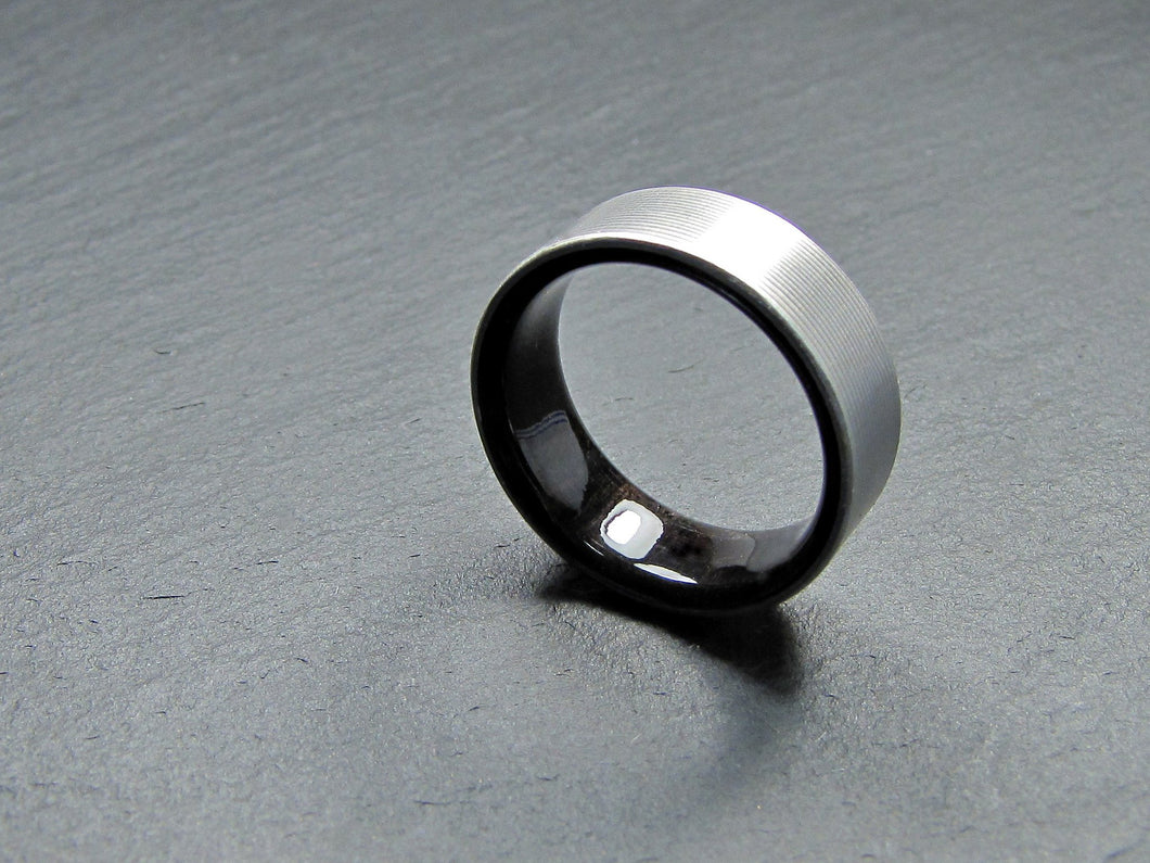 Duality (Blackwood) Men's Titanium and Wood Wedding Ring
