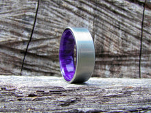 Duality (Royal Purple) - Men's Titanium and Resin Ring