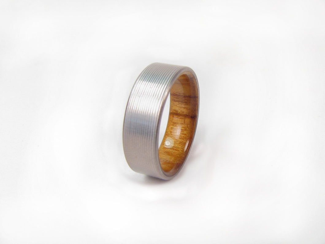 wedding teak pinterest and band pin rings men inlay by ring richterscalerings titanium duality s
