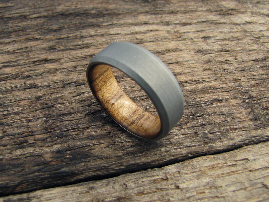 steel birthday size inlaid us jewelry couple men ring rings gift teak brown stainless