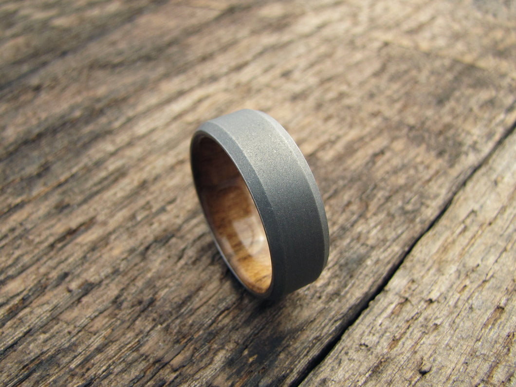 ring bentwood inlay pin with woods copper and maple the rings wooden teak