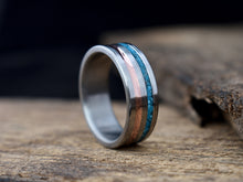 Paradox - Copper and Turquoise Inlay Men's Ring