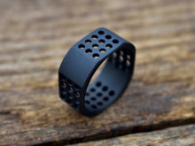 Origin X - Wide Matte Black Titanium Ring