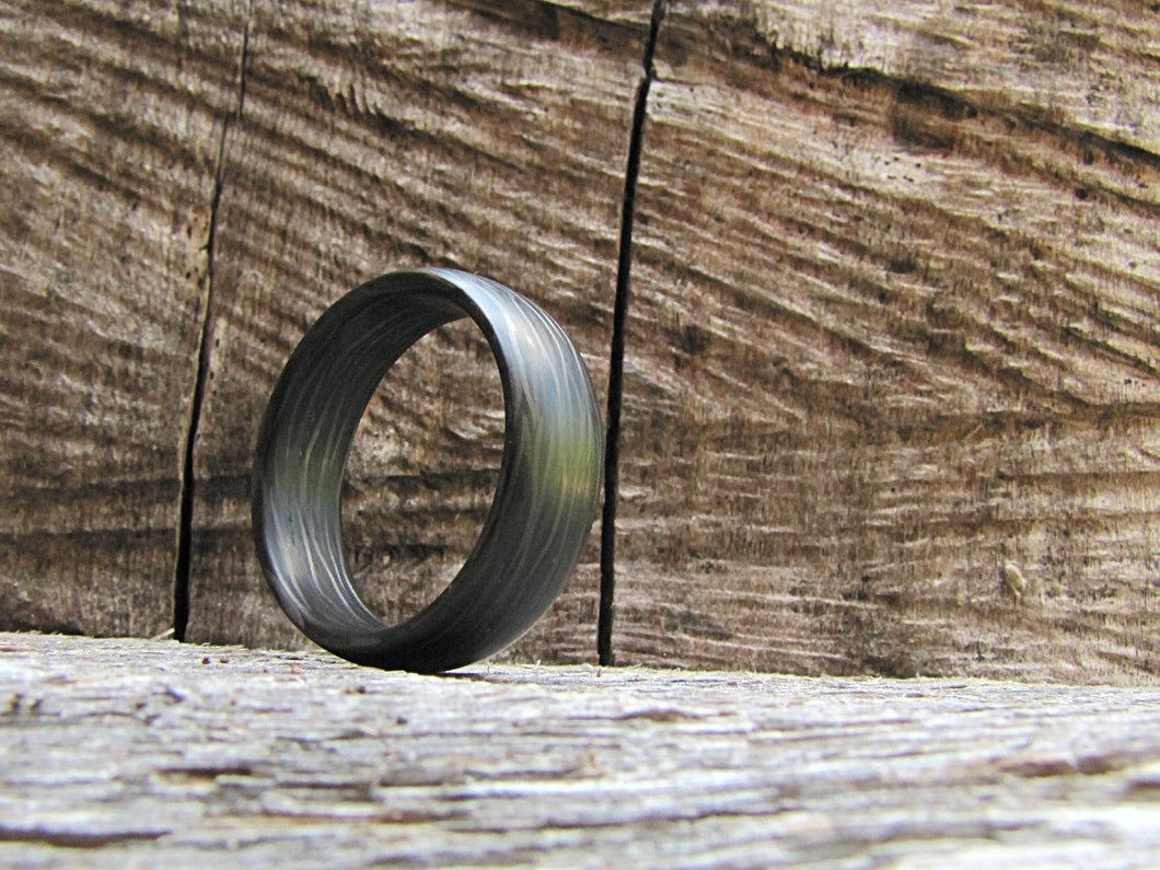 Side cut carbon fiber men's ring