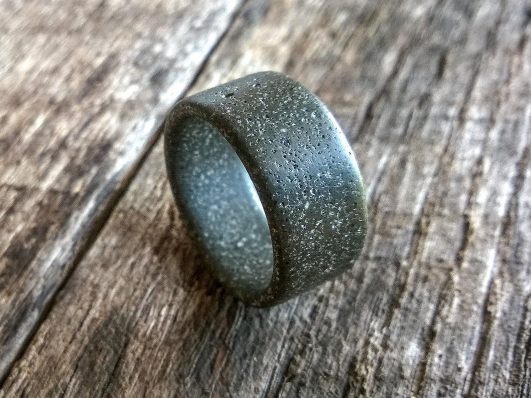 Composite concrete mens ring