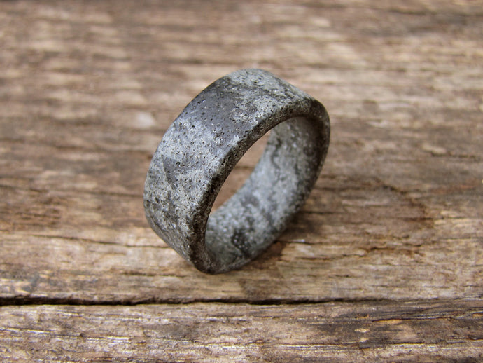 2 tone Marbled concrete mens ring