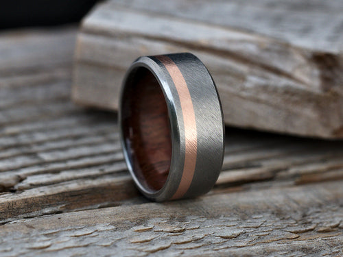 Ellipse (Koa , 14K Rose Gold)