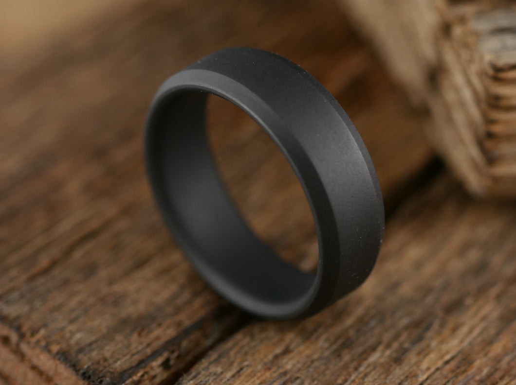 Singularity - Matte Black Titanium Ring