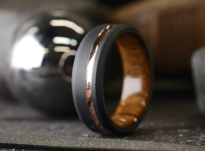 Black Duality+ (Teak & 14K Rose Gold)