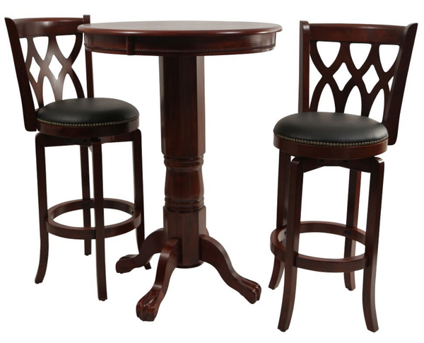 Cherry 3 Piece Pub Table Set - Christian's Table