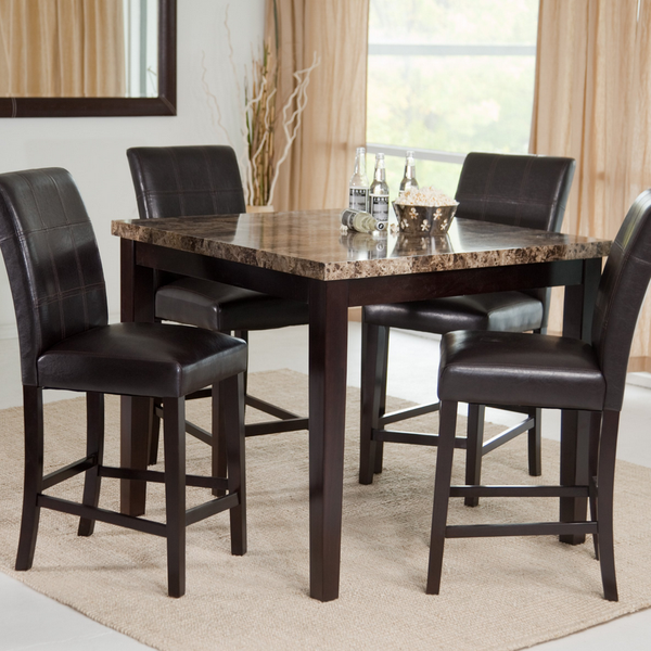 5 Piece Counter Height Dining Table Set - Christian's Table