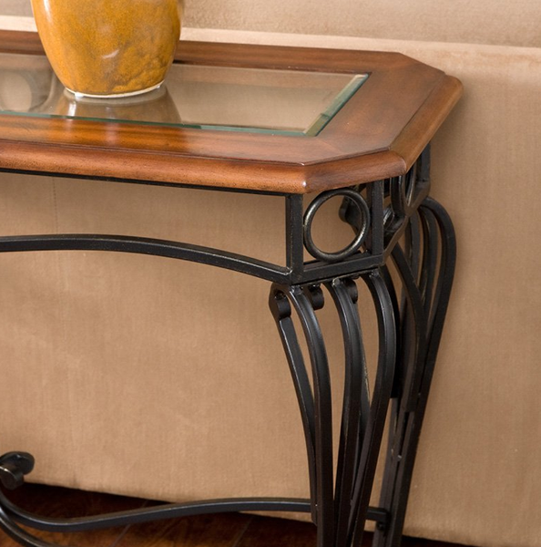 Beveled Glass Top Console Table - Christian's Table