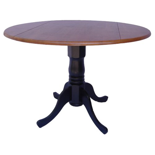 Drop Leaf Round Pedestal Dining Table - 6 Available Finishes - Christian's Table