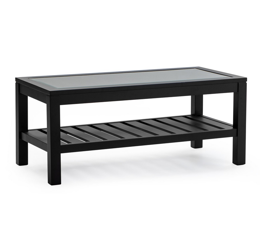 ... Black Glass Top Coffee Table   Christianu0027s Table ...
