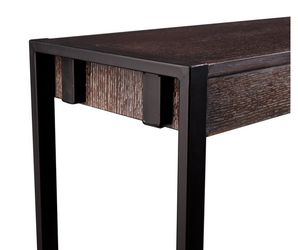 Black metal frame console table