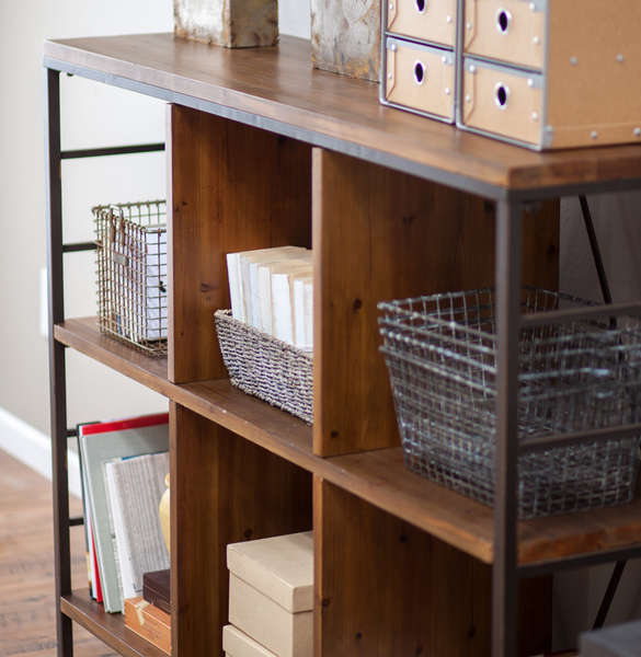Industrial Console Table Bookcase - Christian's Table