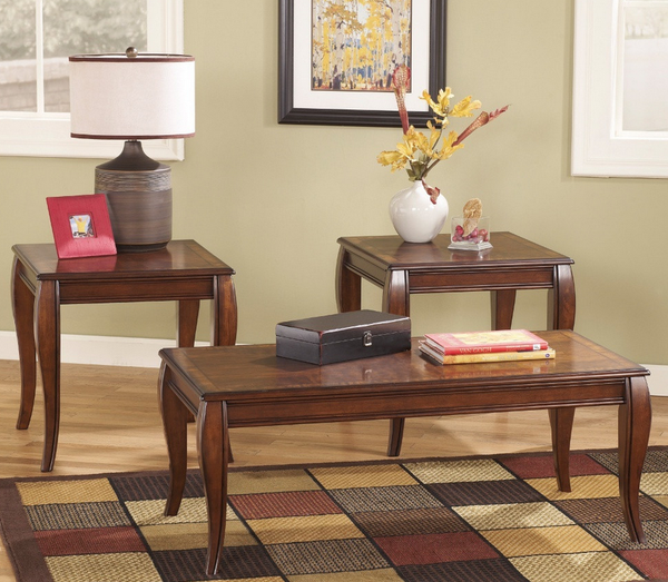 Brown Occasional Coffee Table Set