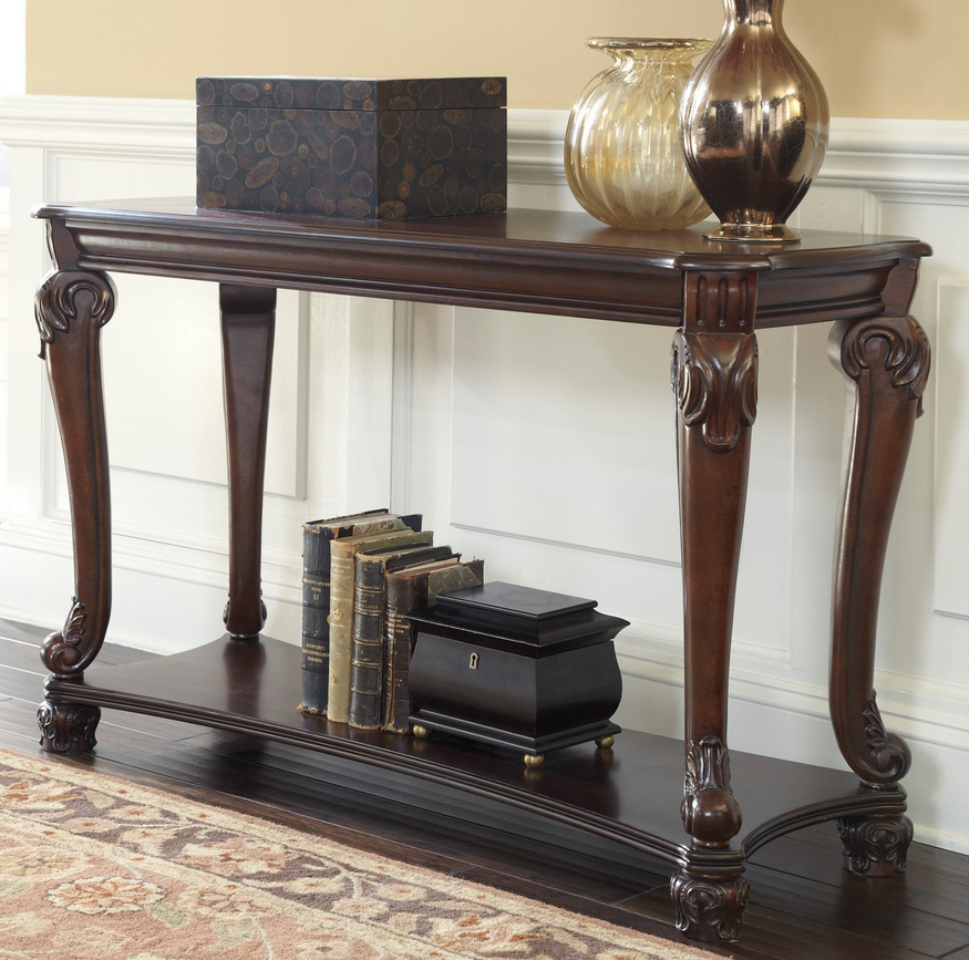 Brown Sofa Console Table Signature Design By Ashley