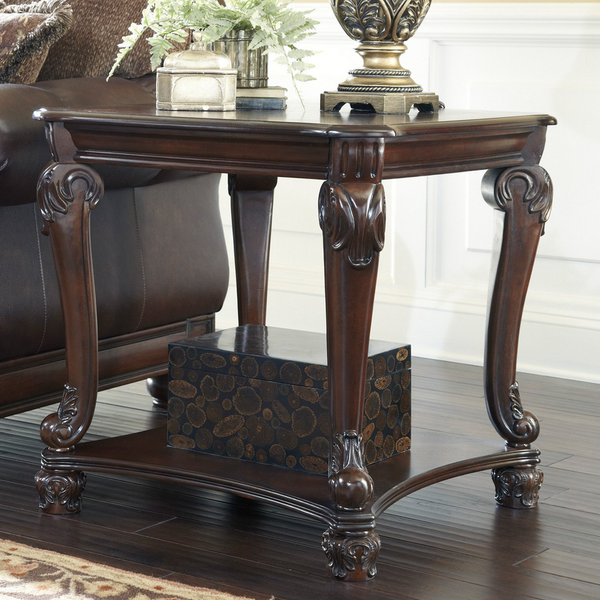 Ornately Carved Square End Table - Christian's Table