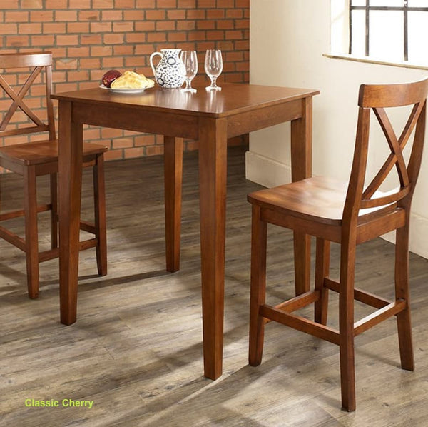 3 Piece Crosley Counter Height Dining Table Set   Christianu0027s Table