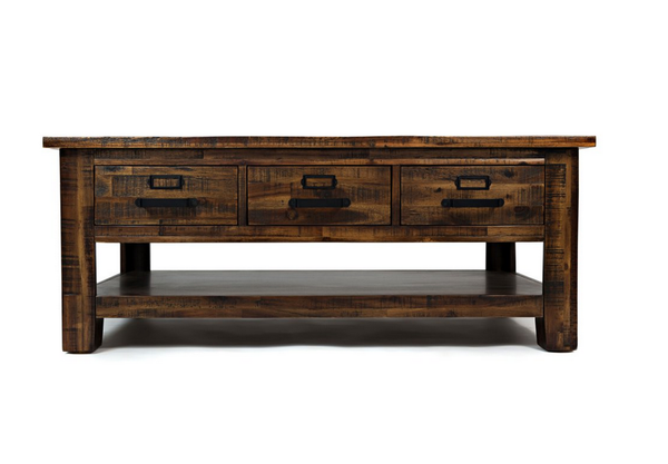 Acacia Wood Distressed Coffee Table - Christian's Table