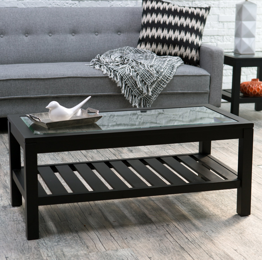 Black Glass Top Coffee Table Christian S Table