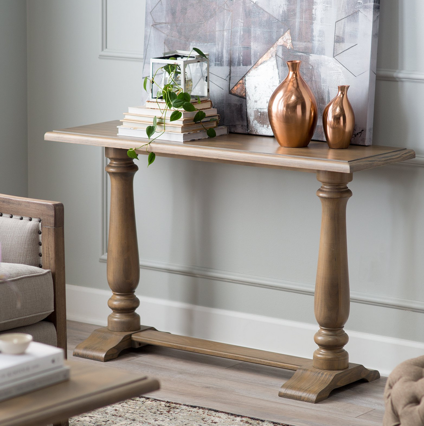 Contemporary Console Table - Driftwood - Christian's Table