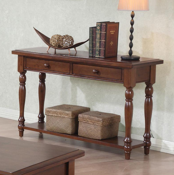 Cottage Brown Console Table