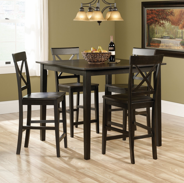 Black 5 Piece Counter Height Table Set