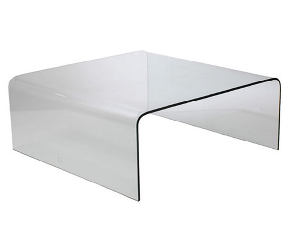 Curved Bent Glass Coffee Table