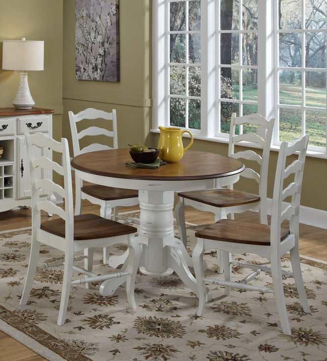 White 5 Piece Dining Room Set - Christian's Table