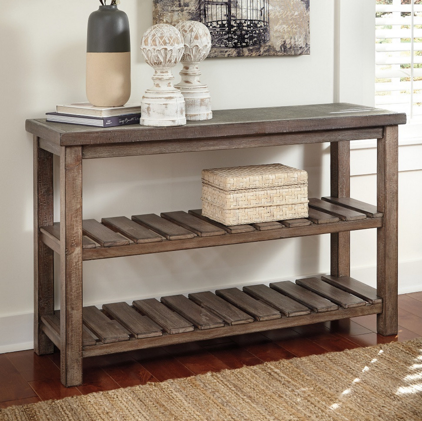 Distressed Sofa Console Table