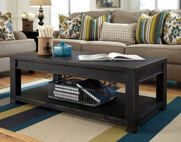 Distressed Weathered Coffee Table - Christian's Table