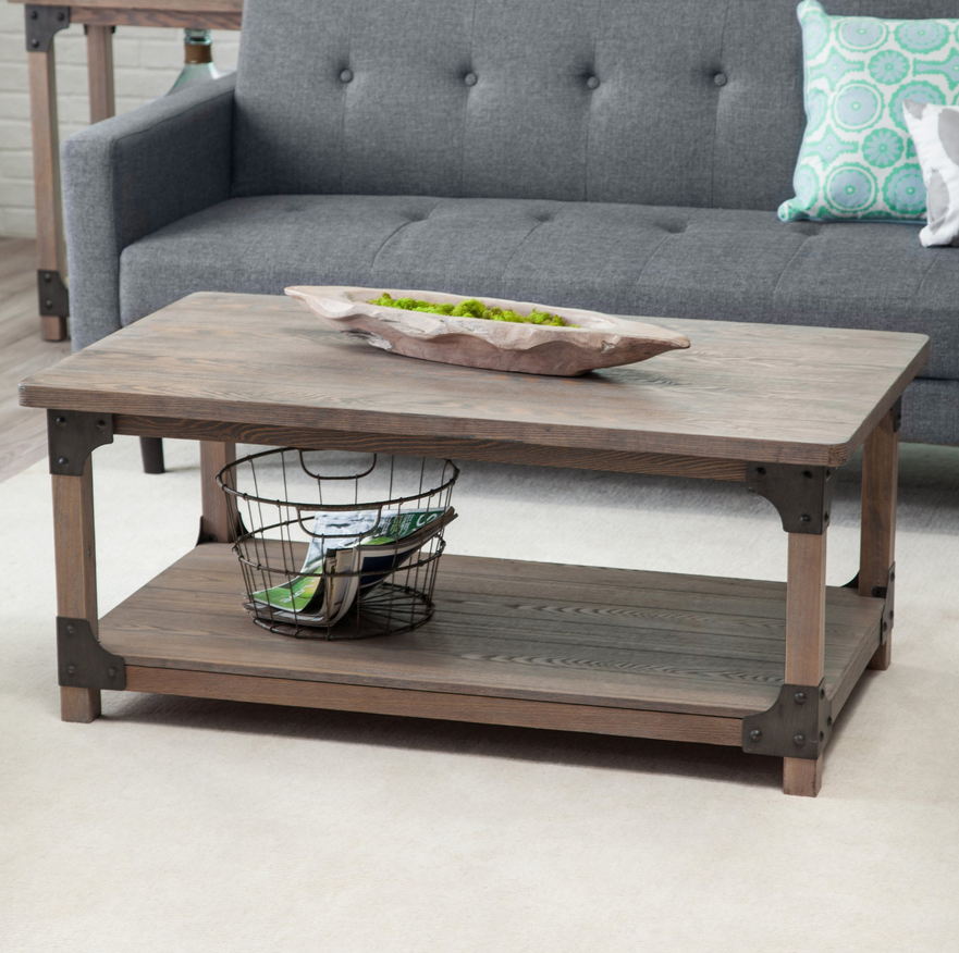 driftwood rustic coffee table – christian's table