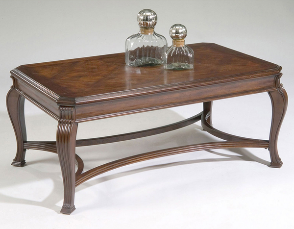 Elegant Coffee Table - Distressed Cherry Finish - Christian's Table