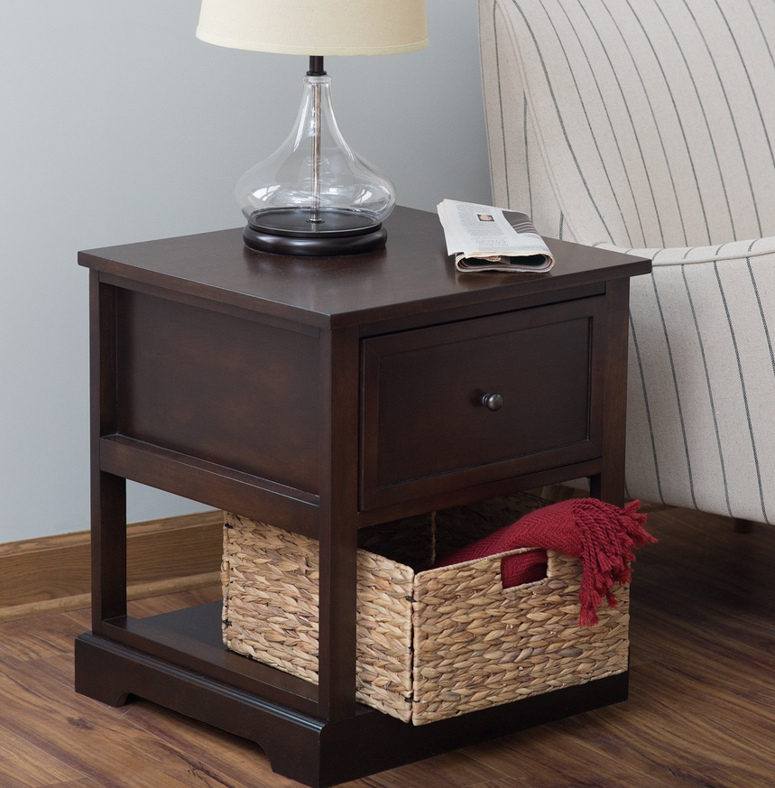 End Table With Storage Basket - Christian's Table