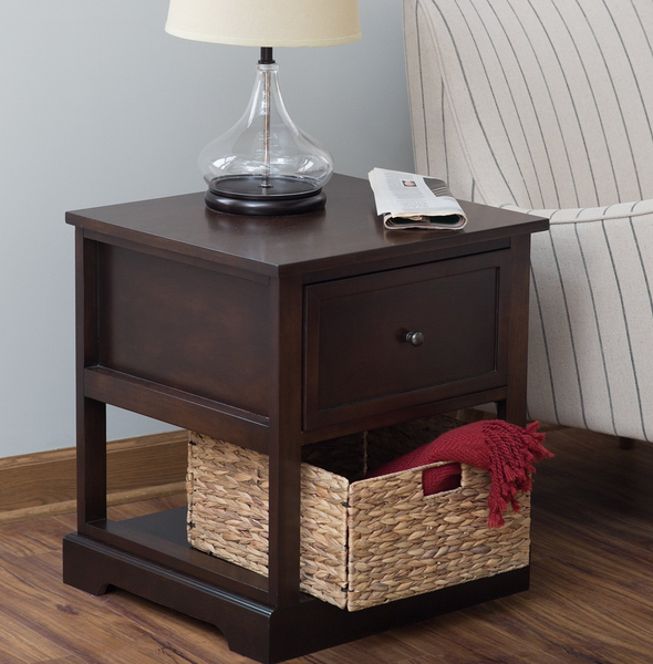 Sold Out End Table With Storage Basket - Christianu0027s Table & End u0026 Side Tables u2013 Christianu0027s Table