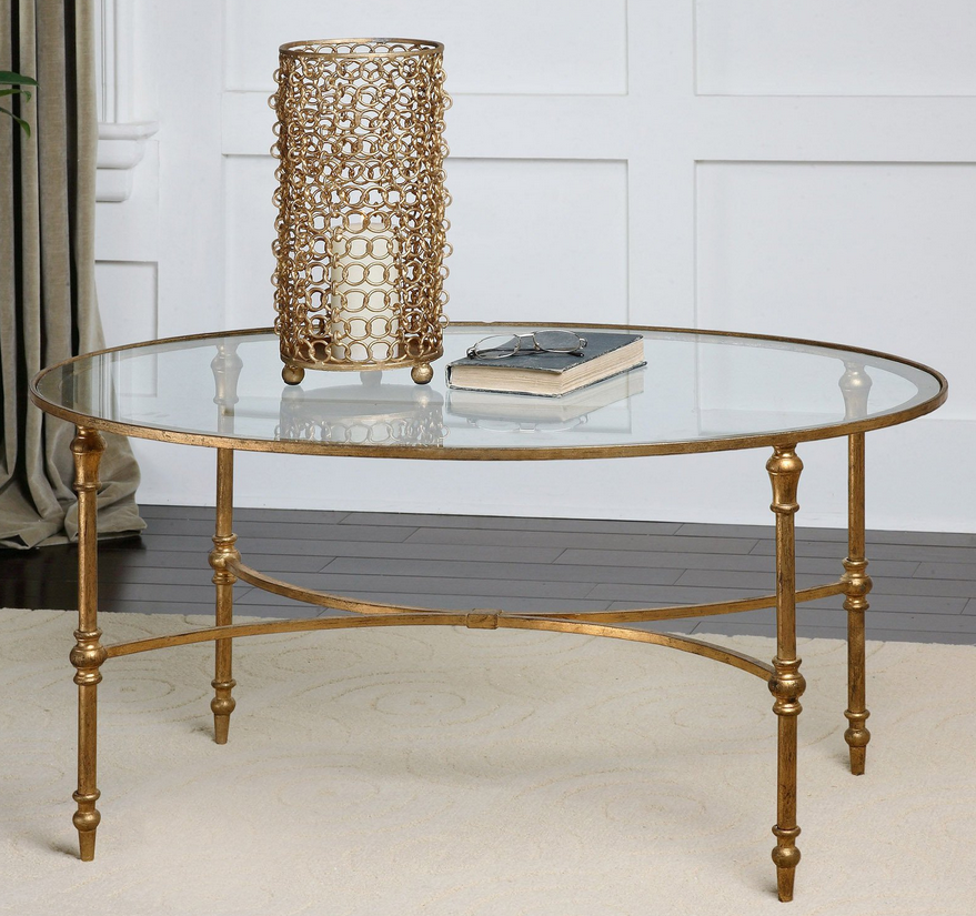 Oval Glass Coffee Table - Christian's Table