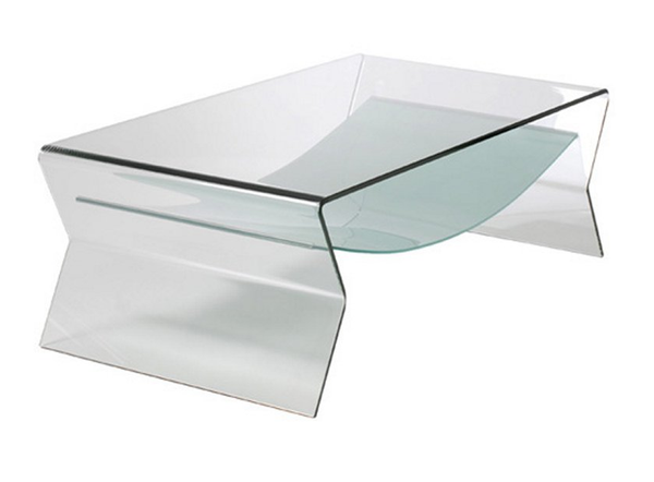 Bent Glass Coffee Table - Christian's Table