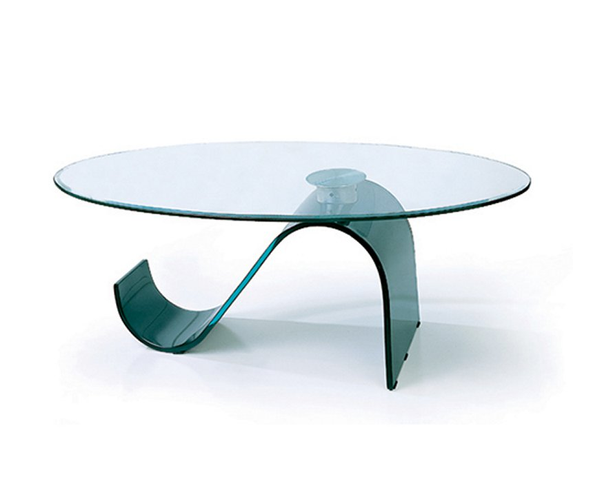 Glass Oval Coffee Table - Christian's Table