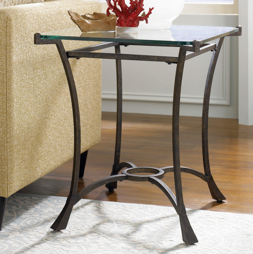 Glass Top End Table - Christian's Table