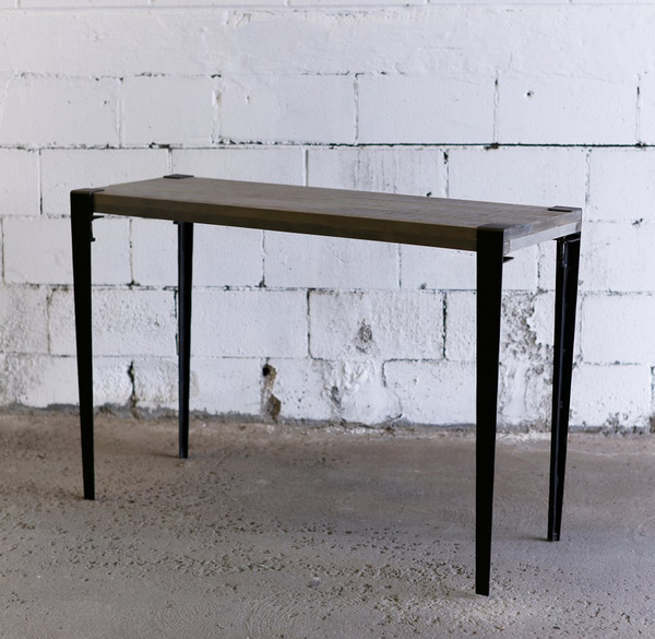 Gray Industrial Console Table