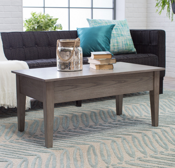Gray Lift Top Coffee Table - Christian's Table