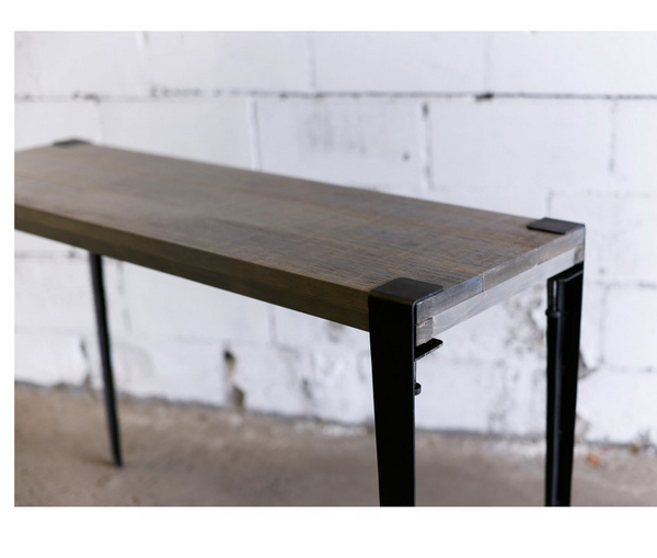 Gray Industrial Console Table - Christian's Table
