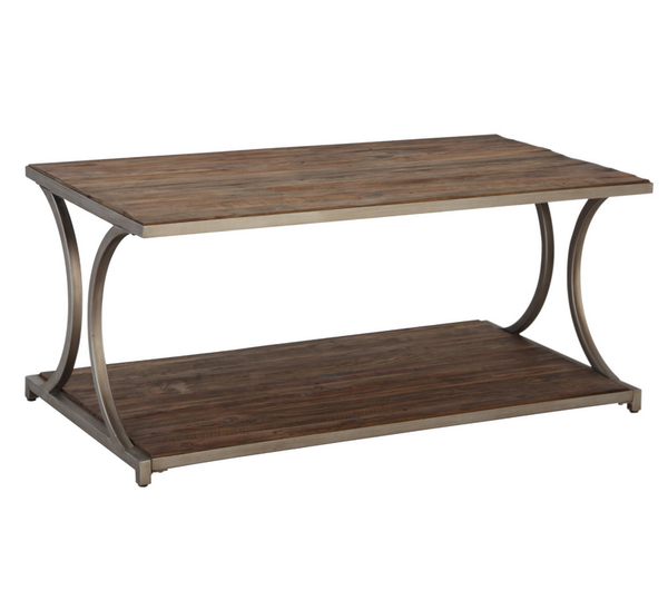 Reclaimed Wood Coffee Table - Industrial Driftwood Finish - Christian's Table